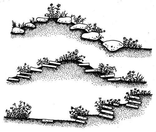 Разновидность альпинариев с разными породами камней