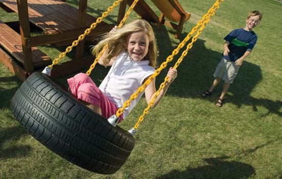 Playground-equipment-swing-old-car-tyres