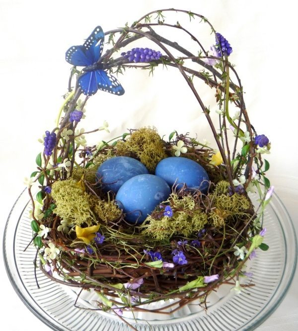 easter-basket-ideas-easter-nest-branches-butterflies-home-decoration-tips