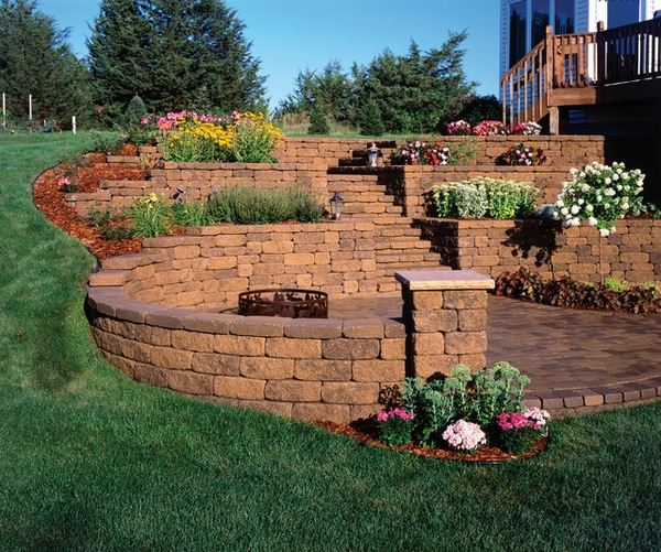 garden-landscape-awesome-retaining-wall-design-ideas-garden-stairs