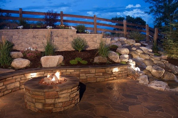 garden-landscaping-retaining-wall-design-ideas-firepit