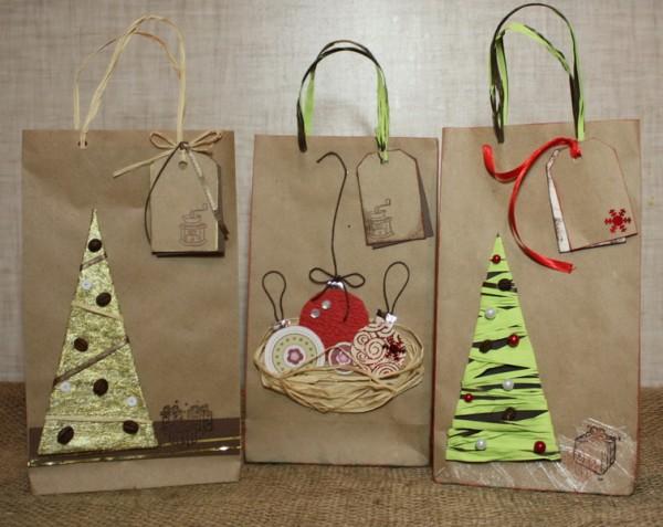 Подарочный пакет своими руками из крафт бумаги
