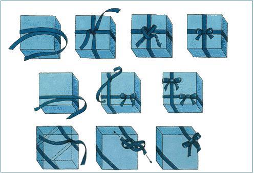 Бант на подарочную коробку