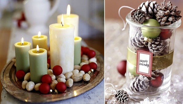 easy-christmas-decoration-ideas-candles-tiny-red-ornaments-and-nuts