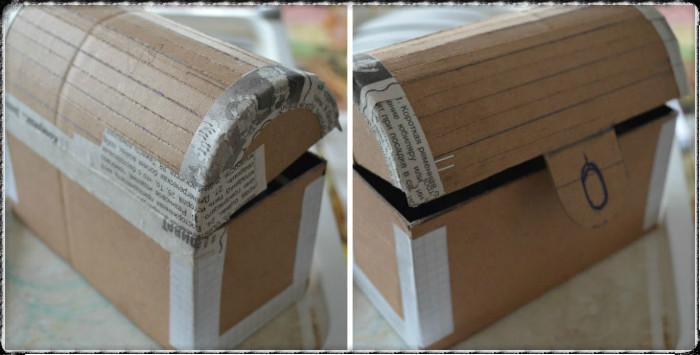Сундучок из картонной коробки своими руками мастер класс 19